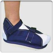 Professional Products Cast Shoe Open Toe/Heel El Strap, Blue Canvas