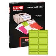 """Laser Labels - Fluorescent, 4 x 1"""" 2000/bx"""